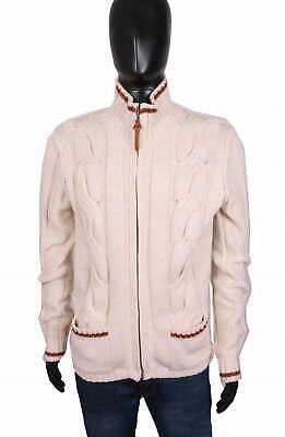 *diesel Mens Sweather Zipper Pattern Ecru Size Xl