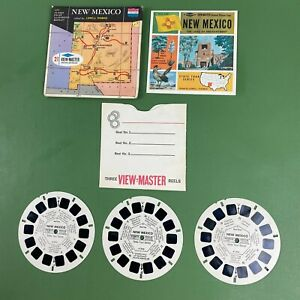 Vintage 1965 View-Master New Mexico State Tour Series 3 Reels Packet #3753