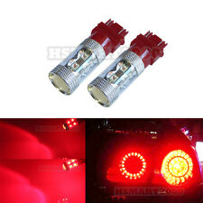 2x Red 3157 3156 3057 3457 4157 60W Super Bright LED Bulbs for Brake Tail