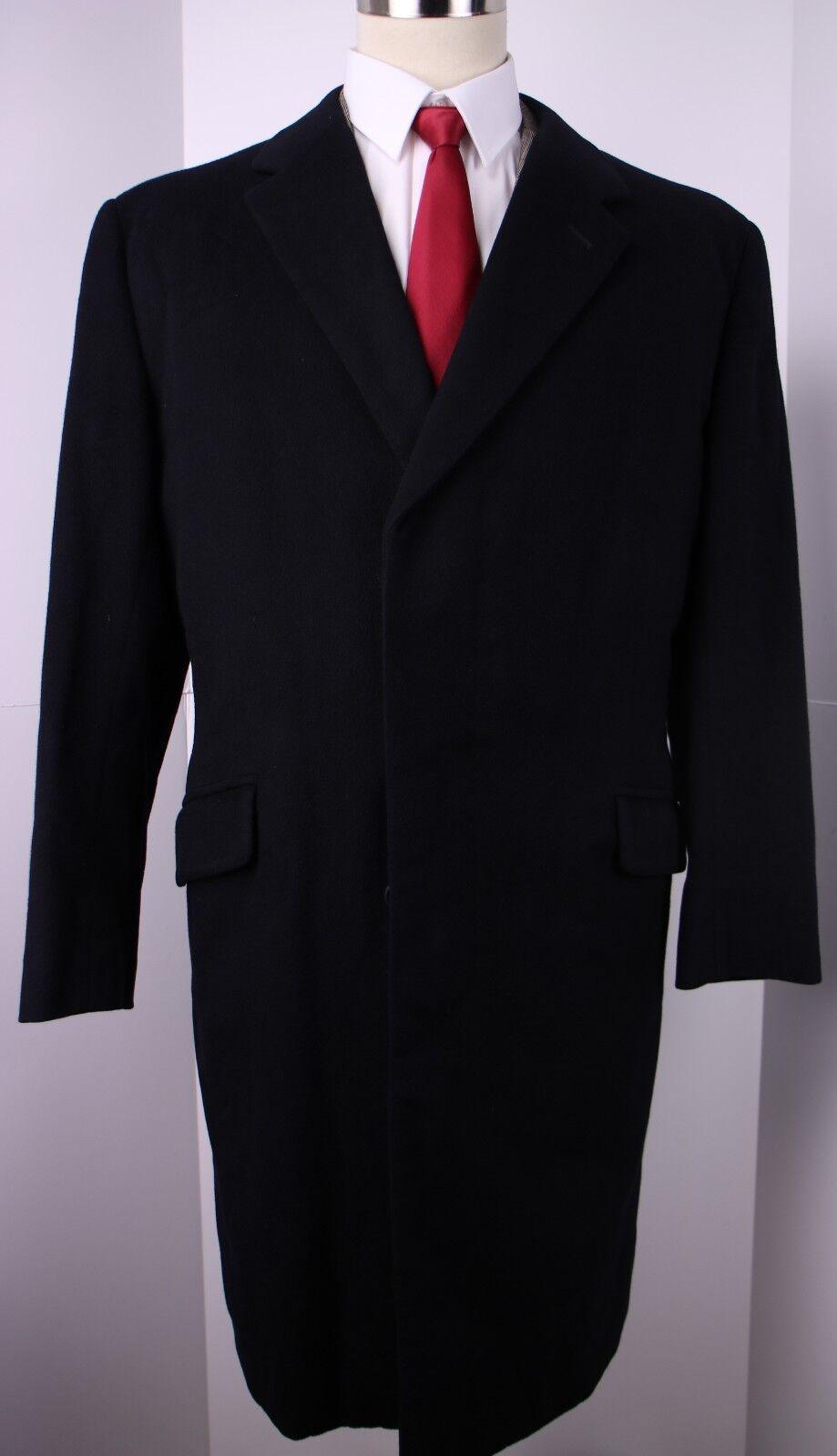 Kilgour Savile Row Bespoke Blau Three Button Overcoat Top Coat 42 R
