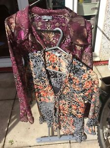 Top Bundle Camicette 2x Una Size Cute Sleeves Per Floral 12 RY47qfwY