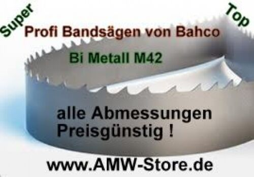 HSS Bandsägeblatt Bi Metall M42 3370 x 27 mm versch Zahnung Sandvik