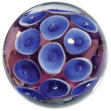"22mm FROGSPAWN Handmade frog egg blue purple Contemporary art glass Marble 7/8"""