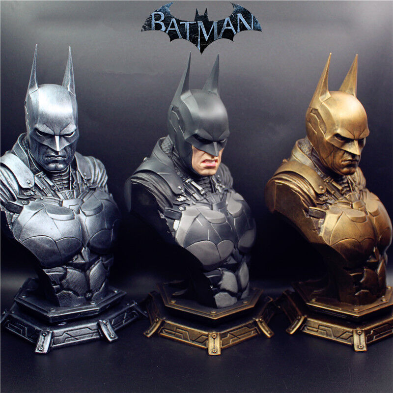 13 Scale Arkam Knight Batuomo autobust Recast Resin cifra Statue 11High 3 heads