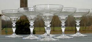 Baccarat-Service-de-6-coupes-a-champagne-en-cristal-grave-monogramme-CP-XIXe