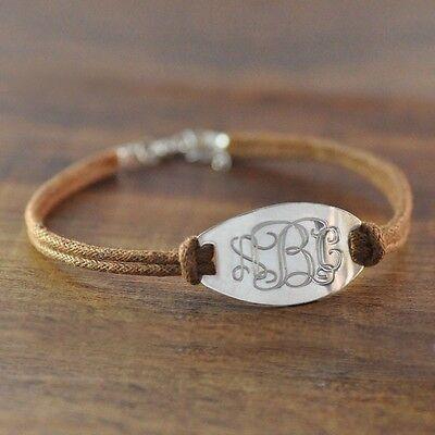 Custom Monogram Bracelet, Personalized Bracelet, Initials Bracelet, Gift for Her
