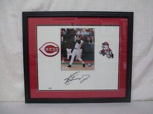 17ea91a97 Ken Griffey Jr Signed Cincinnati Reds White Matt Board Framed Upper ...