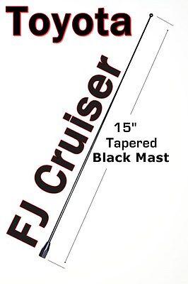 "13/"" Black Stainless AM FM Antenna Mast FITS 2007-2015 Toyota FJ Cruiser"