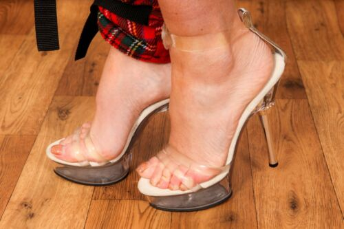 Heels Allure Stripper Diamante 665 Clear Pleaser Pole Dancer Perspex wHxnqdwgU8