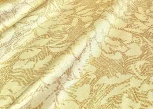 Coton Mix tissu satin brillant deco rideau rideaux vêtements beige fleurs
