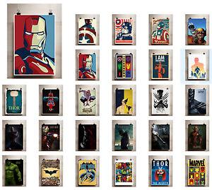 Marvel-A3-A4-Vintage-Affiche-Imprime-Vintage-retro-les-vengeurs-bd