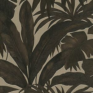 Image Is Loading Versace Black And Gold Palm Leaf Wallpaper Extra