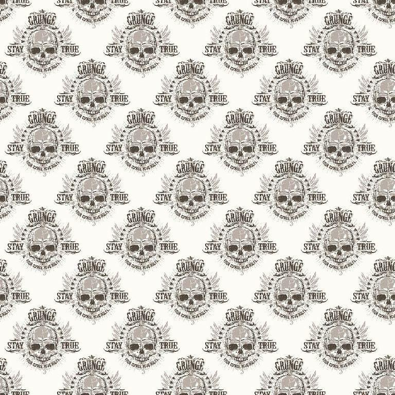 Essener Tapete Grunge G45365 Skull Totenkopf grey black Vliestapete Vlies