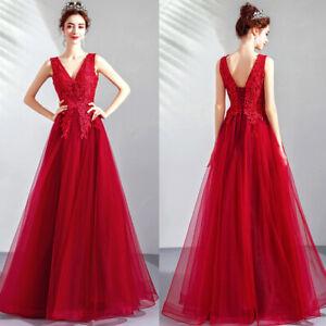 Noble Abendkleider Cocktailkleid Ballkleider Bestickt Rot Lang Kleider Tsjy1712 Ebay