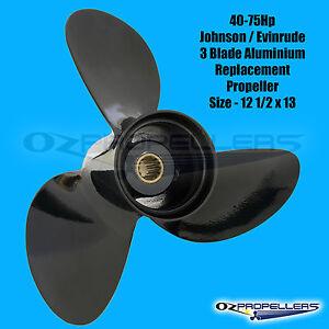 Size 12 x 10 1//2  Mercury Mariner 25-40-50-60-70HP Propeller 3 Blade Alloy Prop