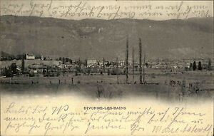 Divonne-les-Bains-France-1900-Panorama-Frankreich-France-nach-Hemelingen-gelauf