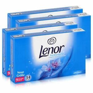 34 x Fogli Lenor per asciugatrice Anti rughe Profumo di freschezza per panni