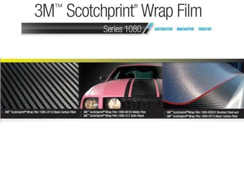 3M 1080 M12 MATTE BLACK Vinyl Vehicle Car Wrap Decal Film Sheet Roll