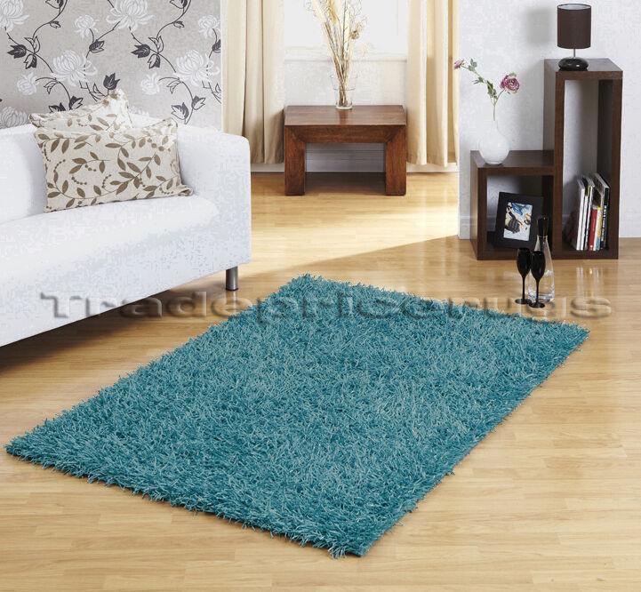 Joyeux noel Large Sparkle Épais Strand Trendy Shaggy Sparkle Large bleu moyen Tapis 110x160cm 615ee7