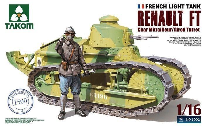 Takom 1 16 1002 French Light Tank Renault FT