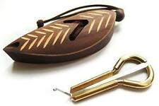 Jew's Harp in a Dark Wooden Case Mouth Musical Instrument 67x30x5 Mm