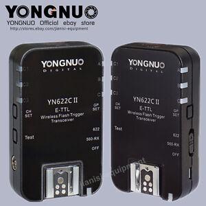 Yongnuo YN-622C II TTL flash trigger for 600EX-RT,568EXII,Canon580EX II,430EX II