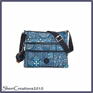 30325f6b69 Image is loading NWT-Kipling-Alvar-Printed-Crossbody-Bag-in-Dizzy-