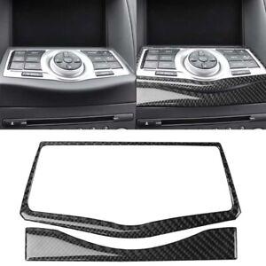 Set-of-Carbon-Fiber-GPS-Navigation-Frame-Trim-Cover-Sticker-For-370Z-Z34-2009
