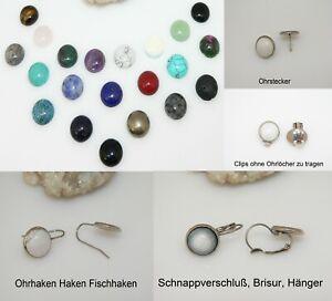 Ohrclips-Ohrschmuck-Ohrring-Cabochon-12mm-AW-Edelstein-Verschluss-Edelstahl-c03a