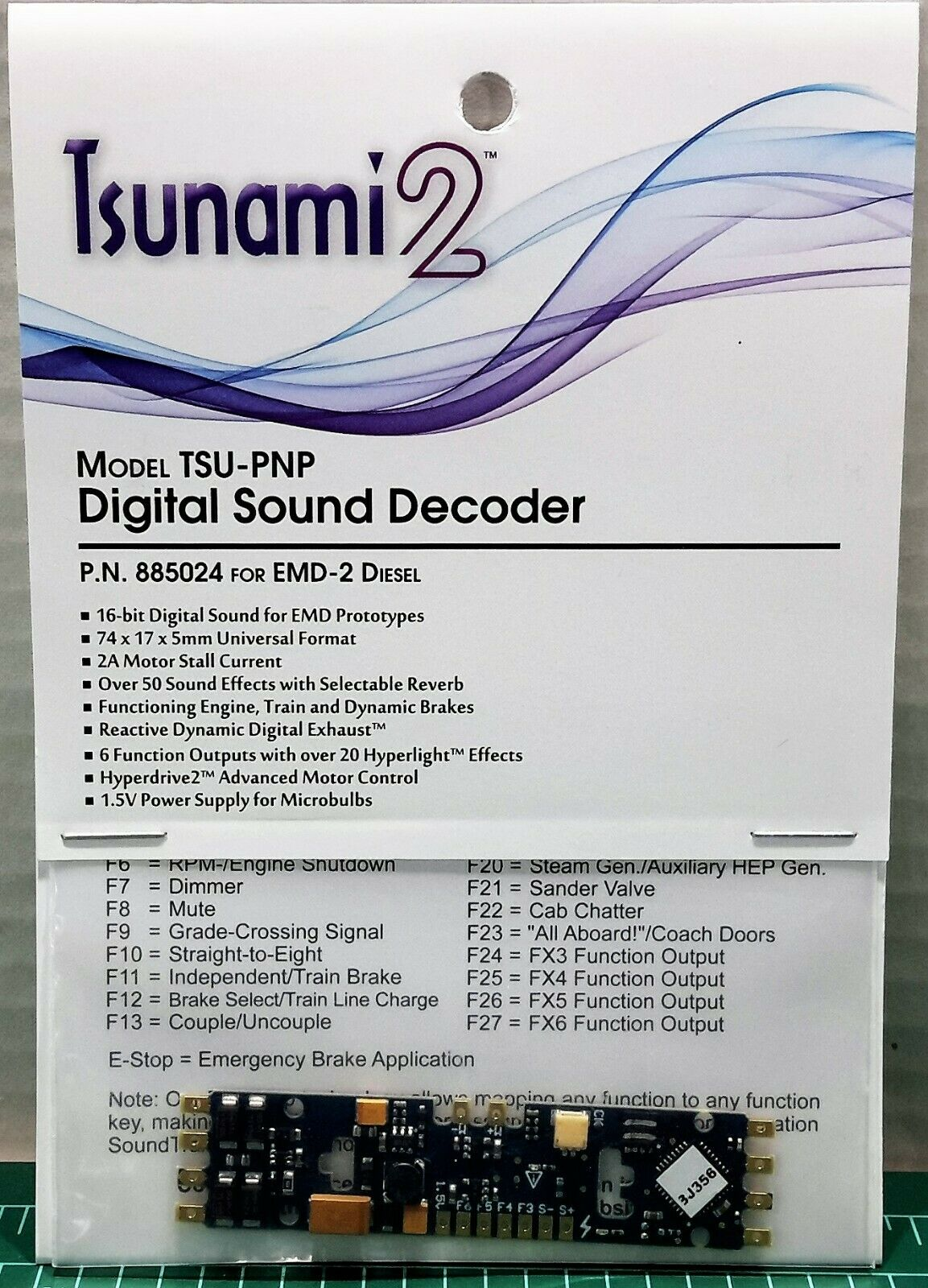 Soundtraxx Tsunami 2 Tsu-PNP 2amp EMD-2 Diesel motores de artículo  885024