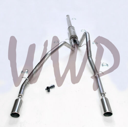 """3/"""" Stainless Steel Dual Cat Back Exhaust System 09-13 Chevy//GMC 1500 V8 Pickup"""
