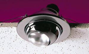 Knightsbridge IP20 80W 240V Mains Eyeball Downlight Light Fitting R80 Brass