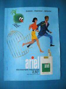 PUBLICITE-DE-PRESSE-ARIEL-CIGARETTE-EVASION-FRAICHEUR-DETENTE-1968