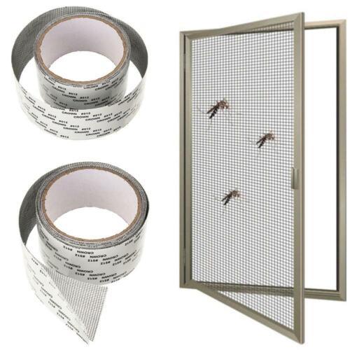 5 200 cm Schwarz Mesh Fenster Loch Klebeband Fenster Tür Screen Patch Repair