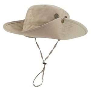 4f75fbf4697e4 Image is loading Outdoor-Waterproof-Boonie-Hat-Wide-Brim-Breathable-Hunting-