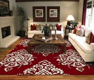 Modern Rug Contemporary Area Rugs Black 8x10 Black 5x7 Carpet Red