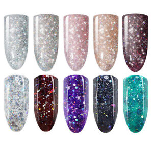 10ml-Sternenklar-Mond-Soak-Off-UV-Gel-Nagellack-Glitzer-Nail-Aer-Gel-Born-Pretty