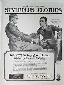 1920 Vintage Mens Styleplus Clothes Original Fashion Clothing Ad Ebay