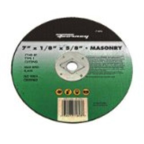 C24R-BF 7-Inch Forney 71893 Cut-Off Wheel with 5//8-Inch Arbor Masonry Type 1