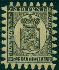 FINLAND #13 (7v1) 10pen, Roulette III, Laid Paper, og, LH, perfect teeth