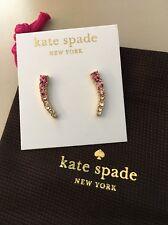 NWT Kate Spade New York Dainty Sparkler Pink Ear Crawlers/Ear Pins, $48