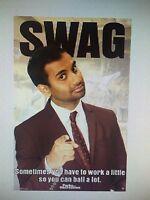 Parks And Recreation Ron Swanson Swag 24x36 Poster Amy Poehler Aziz Ansari