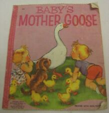Old Cloth Child's Book BABY'S MOTHER GOOSE Nursery Rhymes McLoughlin Bros 1954