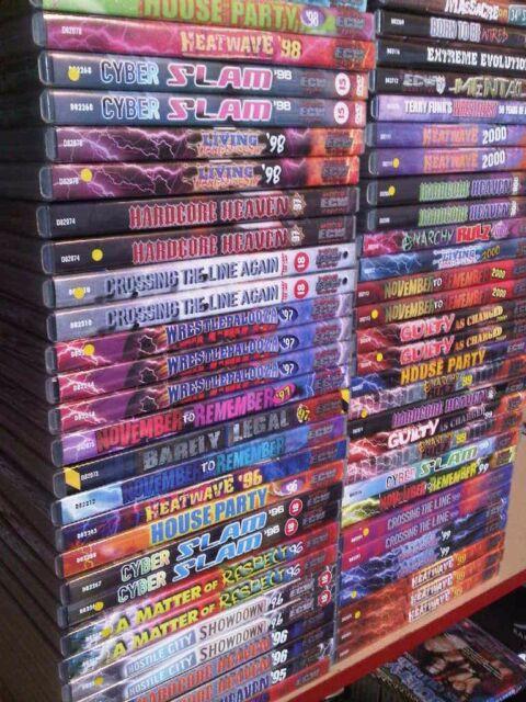 x 1 ECW - PPV DVDs 1995 1996 1997 1998 1999 2000 2001 Delta DVDS RARE OOP