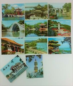 10-Photo-Postcards-Peking-China-Site-Listed-Below-Color-circa-1970s-Vintage
