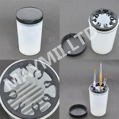 Handy Holder UV Acrylic Pen Cleaner Cup Bottle Nail Art Brush Pot Tool E