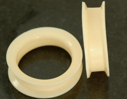 Pair Skin Flesh Color Ultra Soft Silicone Flexible Ear Tunnel Hide Piercing
