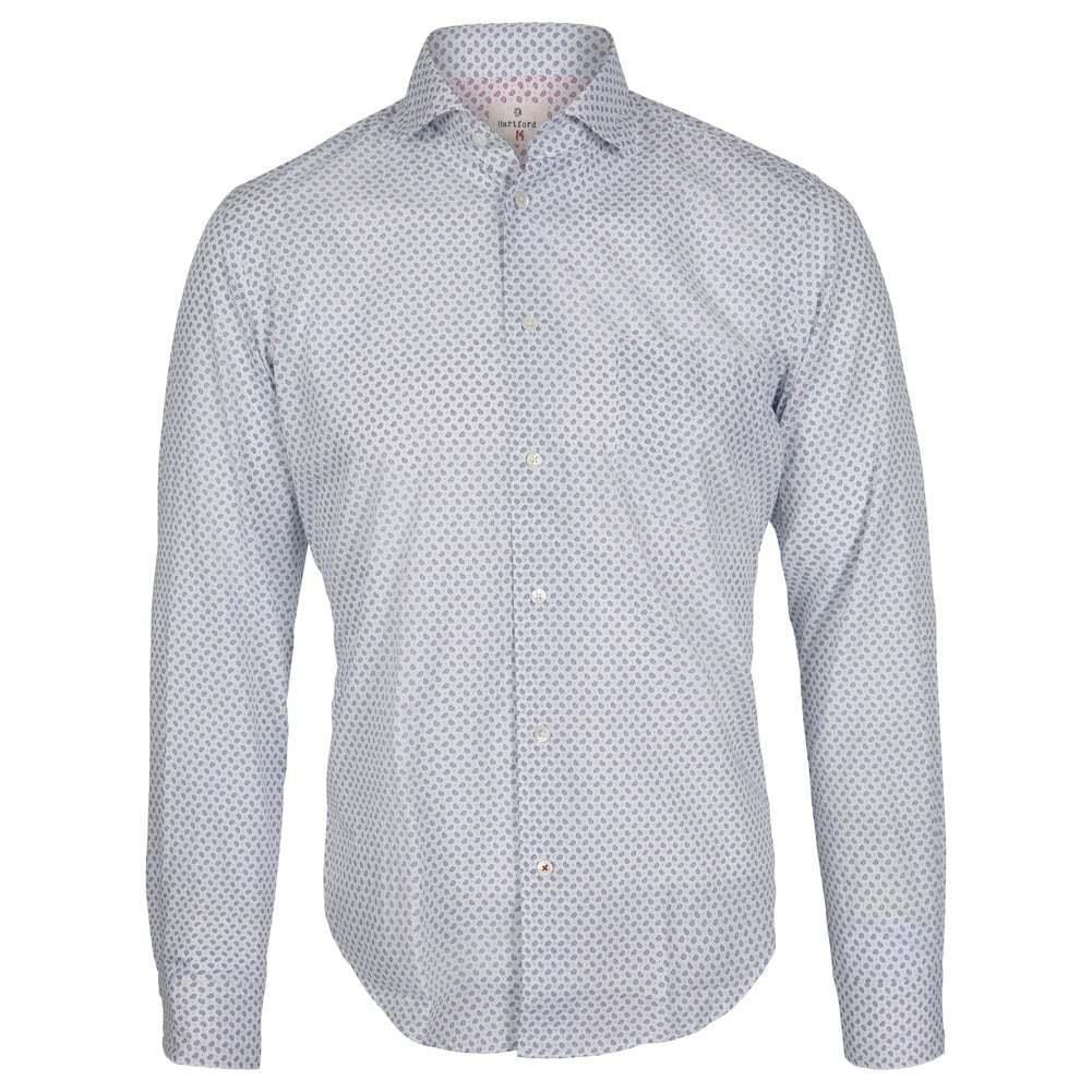 Hartford Fine Paisley Print Shirt, bluee Paisley