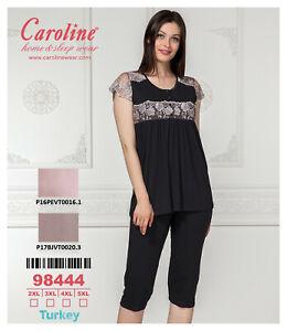 Damen-Schlafanzug-Nachthemd-Kimono-Caroline-Home-amp-Sleep-Wear-98444