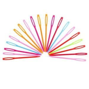 7cm-Plastic-Sewing-Needles-Childrens-Safety-Knitting-Assorted-Colours